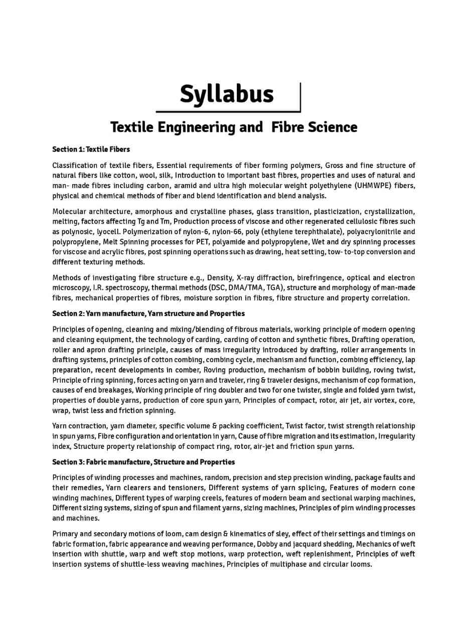 Textile & Fiber Engineering