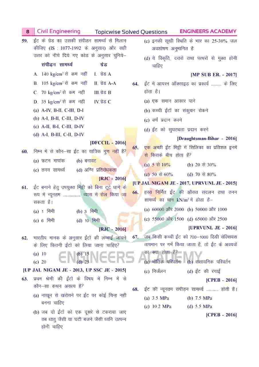 RSMSSB-Rajasthan Junior Engineer: Hindi Language